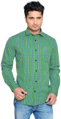 Thinc Men's Checkered Casual Dark Blue Shirt