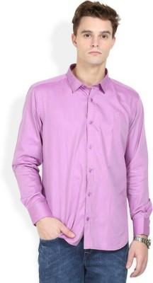 Alamurit Men's Solid Casual Purple Shirt
