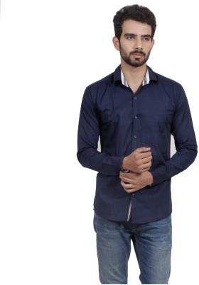 Mild Kleren Men's Solid Casual Dark Blue Shirt