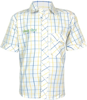 ANT Boy's Striped Casual Yellow Shirt