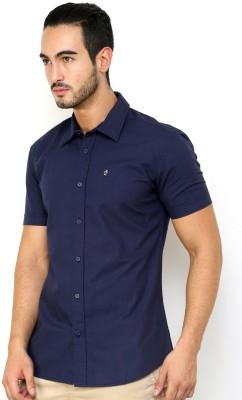 CHRISTIAN FABRE Men's Solid Casual Blue Shirt