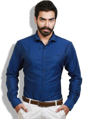Goswhit Men's Solid Casual Blue, Light Blue Shirt