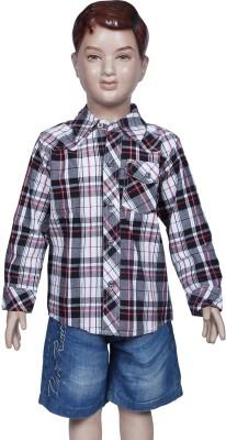 Chutti Pluss Boy's Checkered Casual Brown Shirt