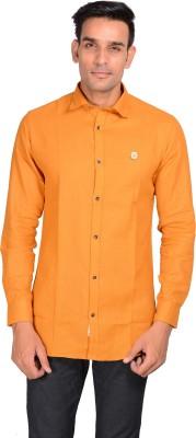 GARGI FASHIONS Men's Solid Casual Yellow, Blue Shirt