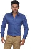 GlobalRang Men's Solid Casual Blue Shirt