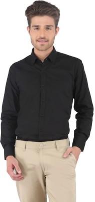 Nick&Jess Men's Solid Formal Black Shirt