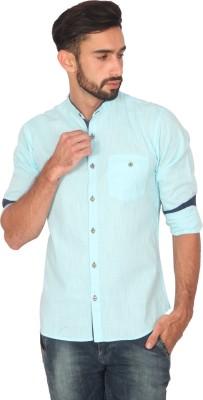 Ashford Brown Men's Solid Casual Light Blue Shirt