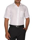 Sarathi Men's Solid Formal White Shirt
