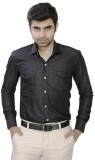 JMD Men's Solid Casual Black Shirt