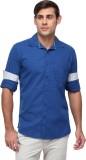Cross Creek Men's Solid Casual Blue Shir...