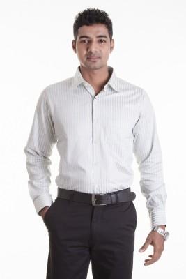 Sting Men,s Striped Formal Grey Shirt