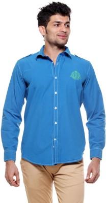 Tog Men's Solid Casual Blue Shirt