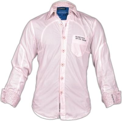 Blacksoul Men's Solid Casual Pink Shirt