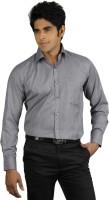 Qpark Formal Shirts (Men's) - Qpark Men's Solid Formal Grey Shirt