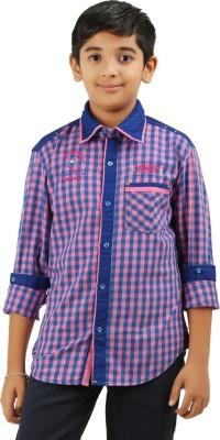 Cub Kids Boy's Printed Casual Pink, Blue Shirt