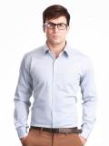 Jogur Men's Solid Formal Blue Shirt