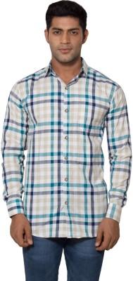 Tabser Men's Checkered Casual Green Shirt
