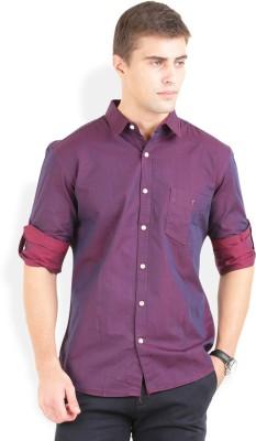 Bay Ridge Men's Solid Casual Red Shirt