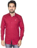 Mangue Men's Solid Casual Red Shirt