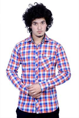 Bucci Men's Geometric Print Casual Multicolor Shirt