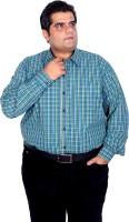 Xmex Formal Shirts (Men's) - XMEX Men's Checkered Formal Green Shirt