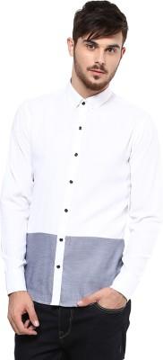 Marcello And Ferri Men's Solid Casual White Shirt