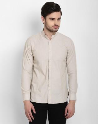 Cotton County Premium Men's Solid Casual Beige Shirt