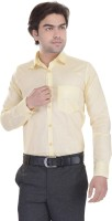Lee Mark Formal Shirts (Men's) - Lee Mark Men's Solid Formal Yellow Shirt