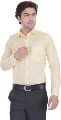 Lee Mark Men's Solid Formal Yellow Shirt