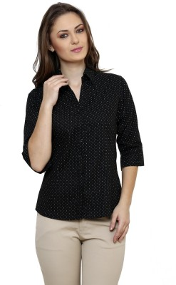 Ritzzy Women's Printed Casual Black Shirt