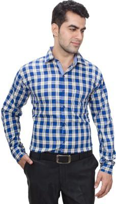 Hancock Men's Checkered Casual Blue, Yellow Shirt