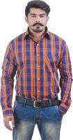 Lujo Diseno Formal Shirts (Men's) - Lujo Diseno Men's Checkered Formal Multicolor Shirt