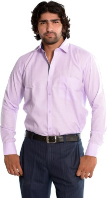 Skybe Men's Solid Casual Purple Shirt
