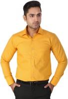 Regza Formal Shirts (Men's) - Regza Men's Checkered Formal Yellow Shirt