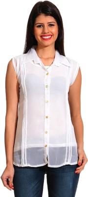 Ahhaaaa Women's Embroidered Casual Black Shirt