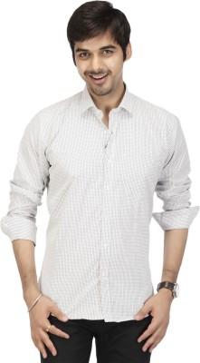Acropolis Men's Checkered Formal Black Shirt