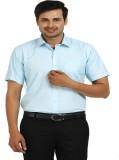 TT Men's Checkered Formal Green Shirt