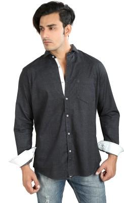 Faceman Men's Solid Casual Grey Shirt