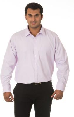 Nova Scottia Men's Solid Formal Purple Shirt