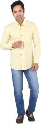 Tasho Zaara Men,s Solid Casual Yellow Shirt