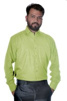 Green Leaves Formal Shirts (Men's) - Green Leaves Men's Solid Formal Light Green Shirt