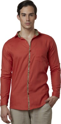 Lisova Men's Solid Casual Red Shirt