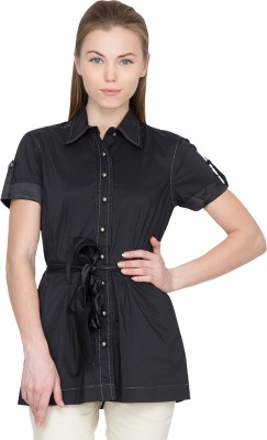 Species Women,s Solid Casual Black Shirt