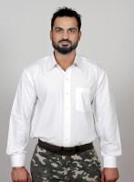 Klouden Formal Shirts (Men's) - KLOUDEN Men's Solid Formal White Shirt(Pack of 2)