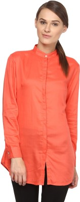 Annapoliss Women's Solid Casual Red Shirt
