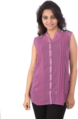 Go4it Women's Solid Casual Purple Shirt
