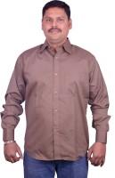 Miway Formal Shirts (Men's) - Miway Men's Solid Formal Brown Shirt