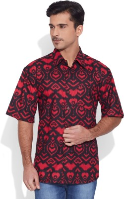 Very Me Men's Graphic Print Casual Red, Black Shirt