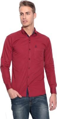 Pazel Men's Solid Casual Maroon Shirt
