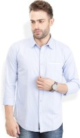 Urban Attire Formal Shirts (Men's) - Urban Attire Men's Self Design Formal Blue Shirt